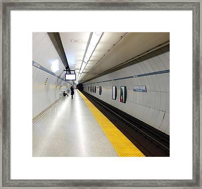 Toronto Subway Platform Framed Print by Valentino Visentini