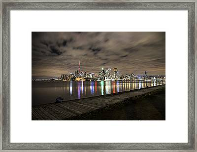 Toronto Sunset Framed Print by John McGraw