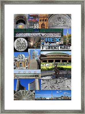 Toronto Textures 3 Framed Print by Andrew Fare