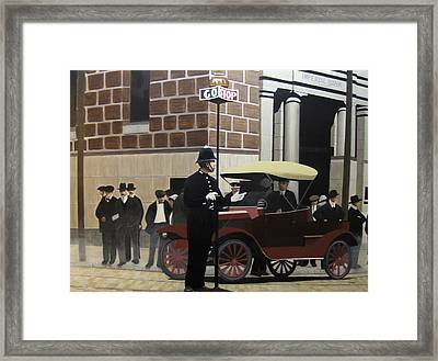 Toronto Traffic Cop 1912 Framed Print by Kenneth M  Kirsch