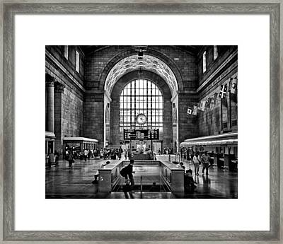 Toronto Union Station 323pm Framed Print by Brian Carson