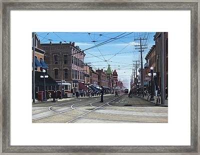 Toronto Yonge And College 1916 Framed Print by Kenneth M  Kirsch