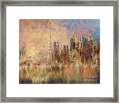 Framed Print featuring the painting Toronto Yyz by Tatiana Iliina