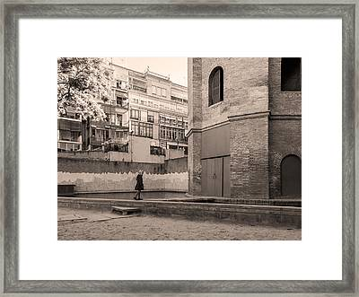 Torre De Las Aguas, Barcelona Framed Print