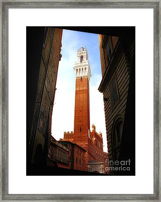 Torre Del Mangia Siena Framed Print by Mike Nellums