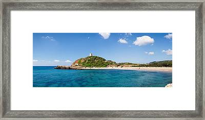 Torre Di Chia With The Saracen Tower Framed Print