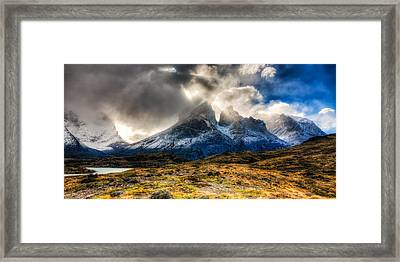 Torres Del Paine 1 Framed Print by Roman St