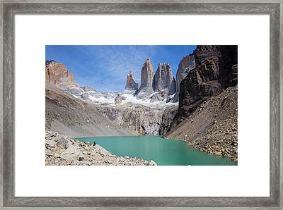 Torres Del Paine Mountains Framed Print by Peter J. Raymond