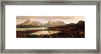 Torres Del Paine National Park Chile Framed Print by Panoramic Images