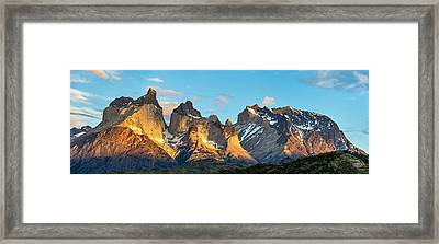 Torres Del Paine Sunrise - Patagonia Photograph Framed Print