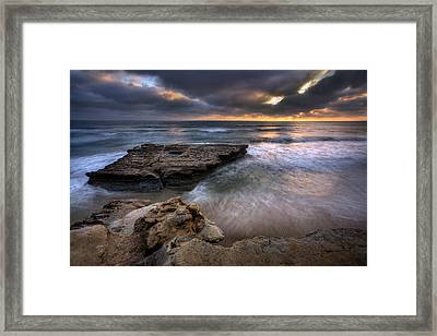 Torrey Pines Flat Rock Framed Print by Peter Tellone