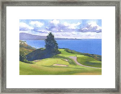 Torrey Pines Golf Course North Course Hole #6 Framed Print by Mary Helmreich