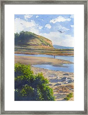 Torrey Pines Inlet Framed Print by Mary Helmreich