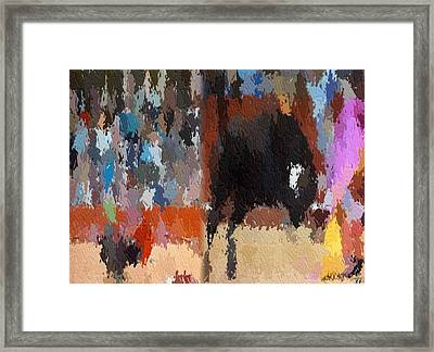 Framed Print featuring the digital art Torro by Kelly McManus