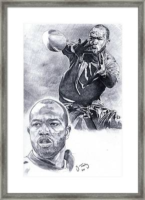 Torry Holt Framed Print by Jonathan Tooley