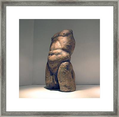 Torso And Bottom Framed Print by Flow Fitzgerald
