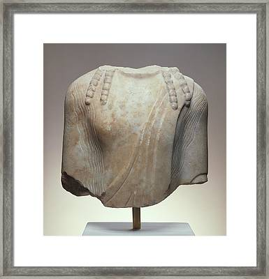 Torso Of A  Kouros Unknown Chios  About 520 B Framed Print by Litz Collection