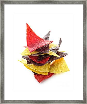 Tortilla Chips Framed Print by Elena Elisseeva