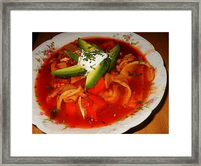 Tortilla Soup Framed Print by Karen Horn