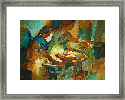 Tortillas Caliente Framed Print