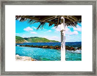 Tortola Cabana Framed Print by Kara  Stewart