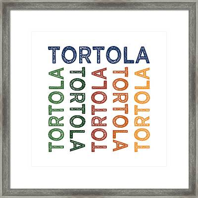 Tortola Cute Colorful Framed Print by Flo Karp