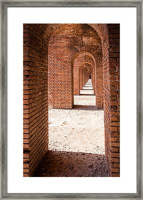 Tortugas Infinite Walkway Framed Print by Adam Pender