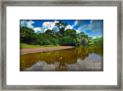 Tortuguero River Canals Framed Print by Gary Keesler