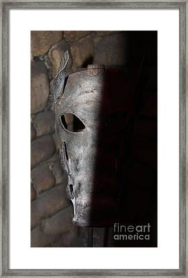 Torture Mask - Pay For Your Sins Framed Print by Lee Dos Santos