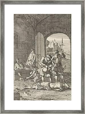 Torture Of Heretics In Arras, 1491, Caspar Luyken Framed Print by Caspar Luyken And Hermannus Ribbius