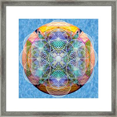 Torusphere Synthesis Cell Firing Soulin IIi Framed Print