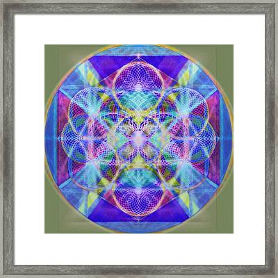 Torusphere Synthesis Vioblu Warrior Soulin II Framed Print