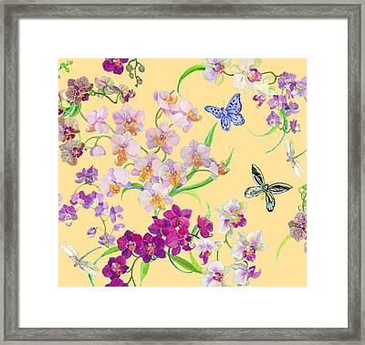 Tossed Orchids Framed Print