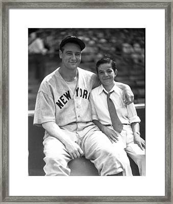 New York Great Lou Gehrig Framed Print by Retro Images Archive