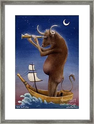 Total Bull Ship... Framed Print by Will Bullas