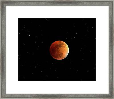 Total Lunar Eclipse Framed Print by Damian Peach