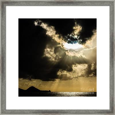 Total Solar Eclipse Breakthrough Framed Print by Peta Thames