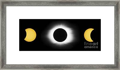 Total Solar Eclipse Sequence Framed Print by John Chumack