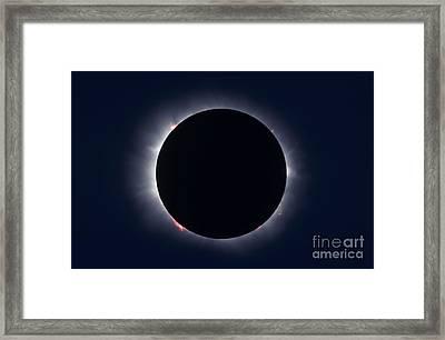 Total Solar Eclipse Taken Framed Print by Alan Dyer
