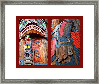 Totem 2 Framed Print by Theresa Tahara