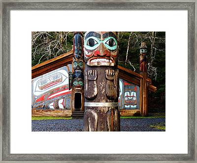 Totem Bight Framed Print by Karen Horn