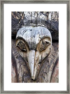 Totem Face Framed Print by Cathy Mahnke