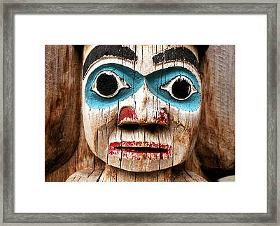 Totem Face Framed Print