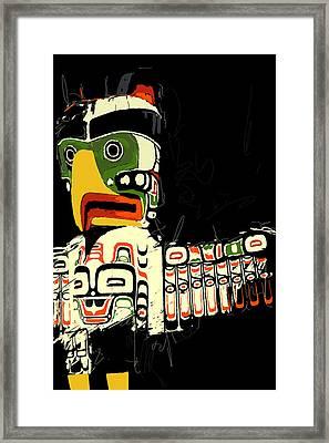 Totem Pole 01 Framed Print by Catf