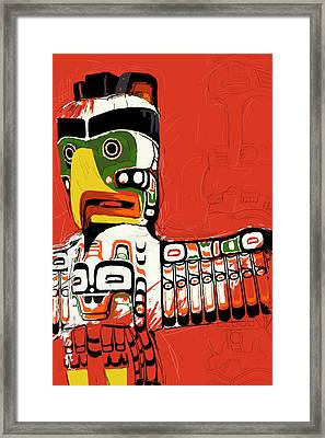 Totem Pole 02 Framed Print by Catf