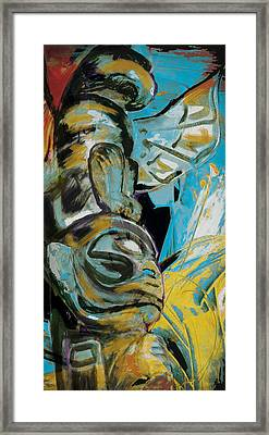 Totem Pole 3 Framed Print by Corporate Art Task Force