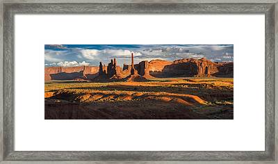 Totem Pole And Yei Bi Chei Monument Valley Framed Print