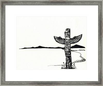 Totem Pole Framed Print