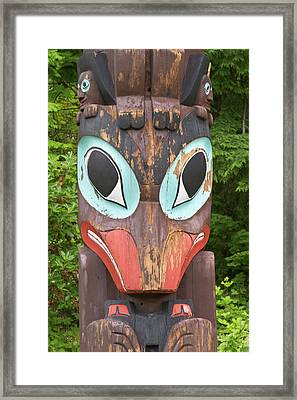 Totem Pole, Vancouver, British Framed Print by William Sutton