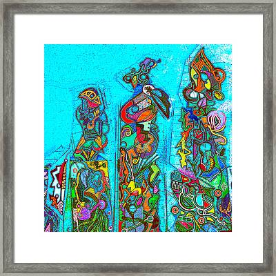 Framed Print featuring the mixed media Totemism by Doug Petersen